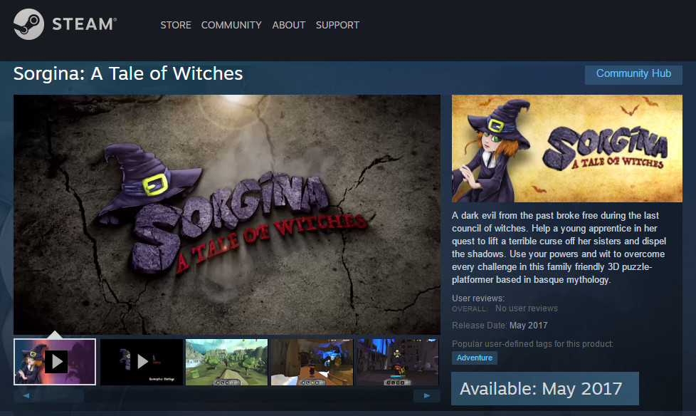 Sorgina A Tale Of Witches: Steam